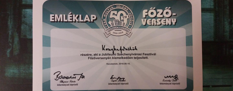 A Jubileumi Széchenyivárosi Fesztivál keretein belül 2018. szeptember 15-én megrendezett főzőverseny