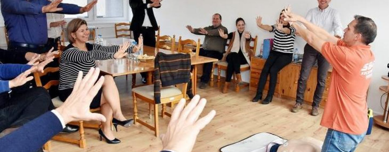 Újraélesztési képzés a KIK-FOR Irodaházban