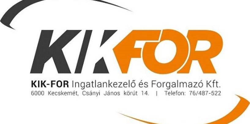 A KIK-FOR Kft. munkatársat keres ingatlankezelési ügyintéző pozícióra